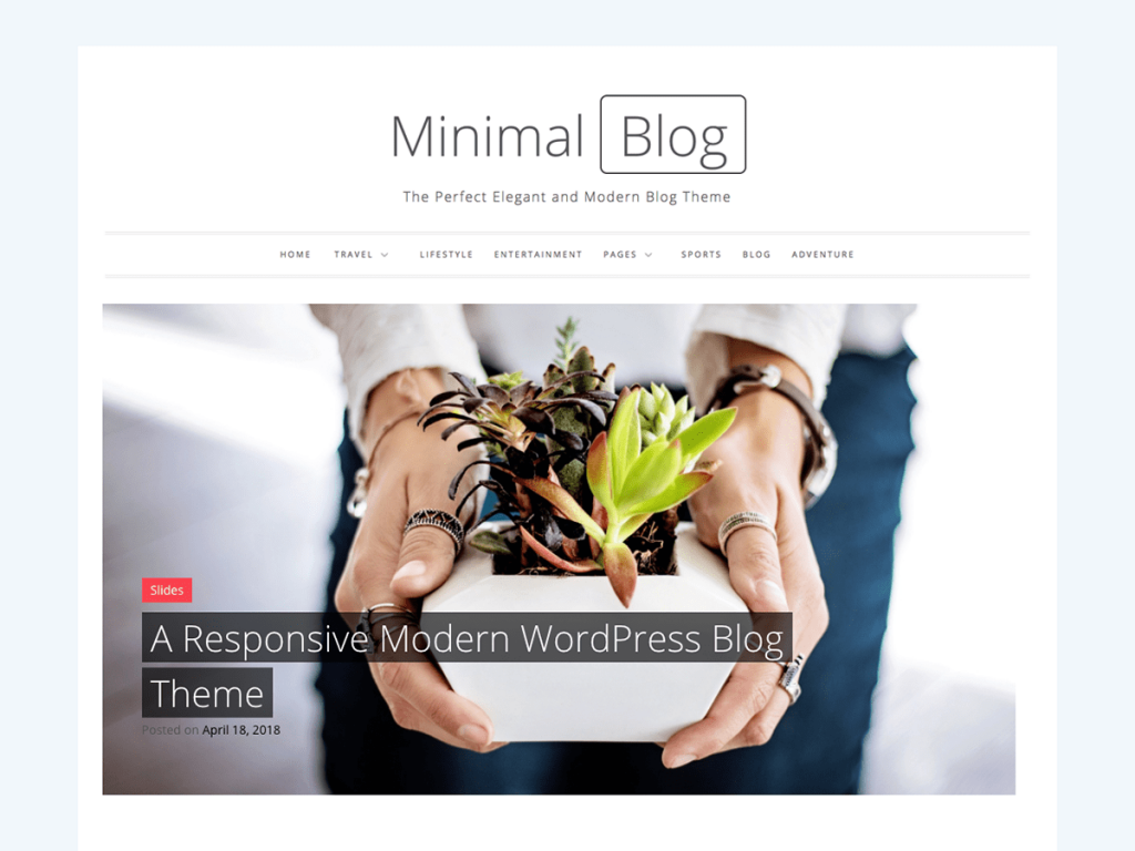 Minimal Blog WordPress Blog Theme