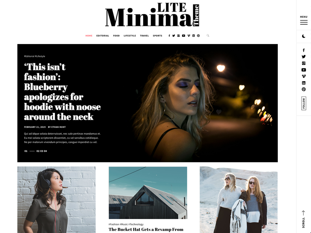 Minimal Lite WordPress Blog Theme