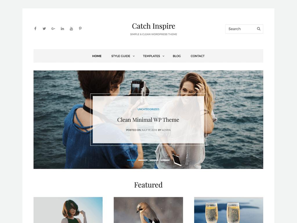 Catch Inspire a minimalist WordPress Blog Theme