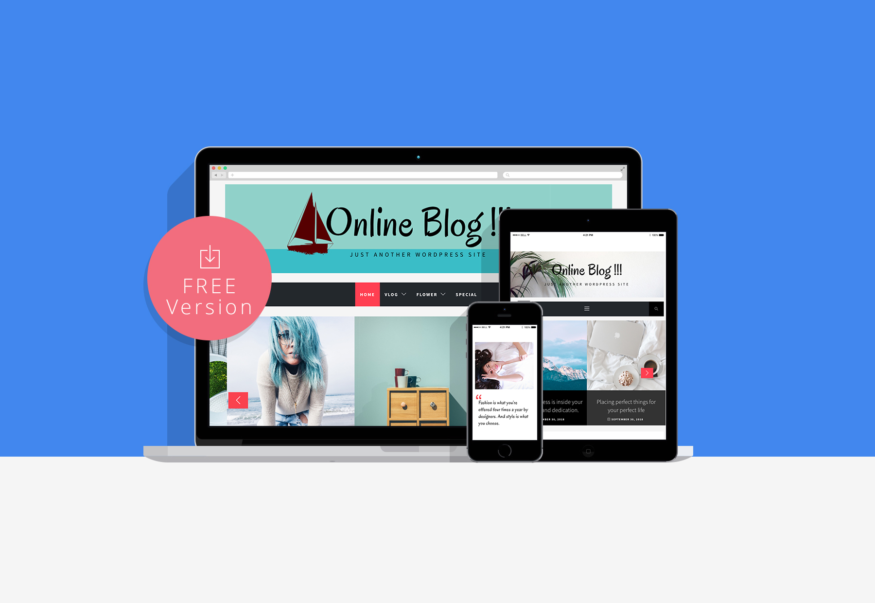 Online Blog Live Preview - Thememattic